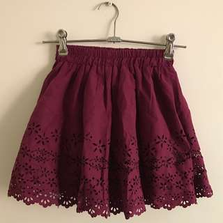 Berry Suede Skirt