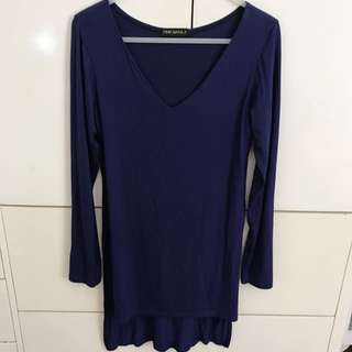 Blue Dress/long Top S-M