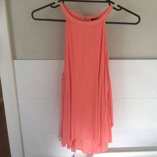 Bardot Coral Top