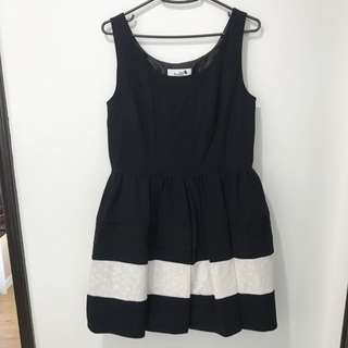 Swise Black & White Lace Dress