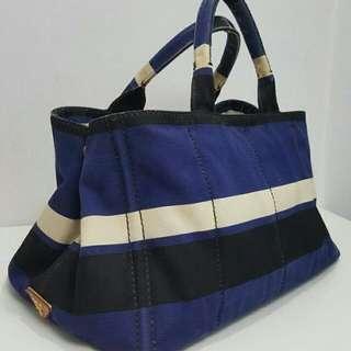 Authentic Prada Denim Large Tote Bag