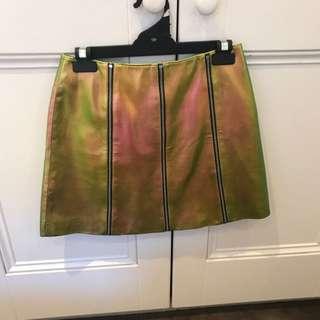 Asos Metallic A-line Skirt