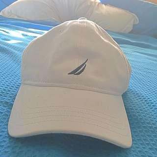 White Nautica Hat