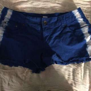 Blue W/ White Stripes Shorts
