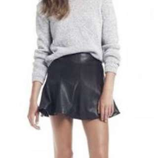 Bec And Bridge 100% Leather Skirt Size 6