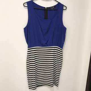 Forever21 Blue & B&W Stripes