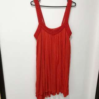 Zara Red Beach Dress