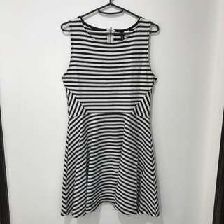 H&M B&W Striped Dress