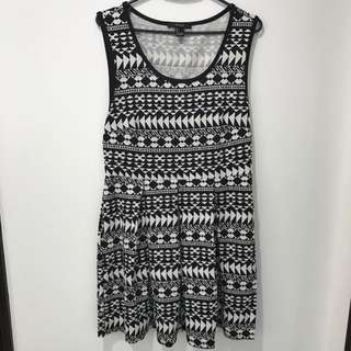 Forever21 B&W Tribal Dress