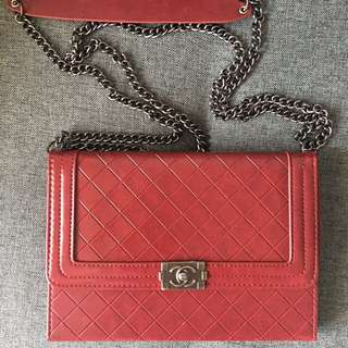 Chanel-inspired iPad mini Case with chain