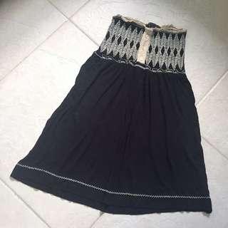Mango Strapless Mini Dress