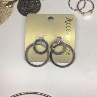 全新/現貨 圈圈耳環 造型 立體 多種戴法 可分開 Accessorize