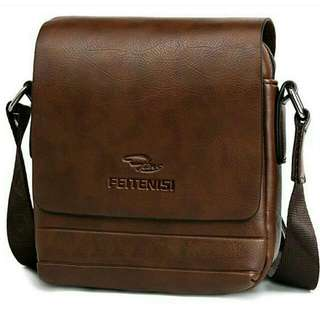 Male Leather Shoulder Bag