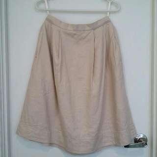 UNIQLO Beige-Pink A-Line Skirt- Waist 25(63.5cm)