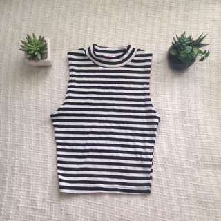 Supre Striped High Neck Top