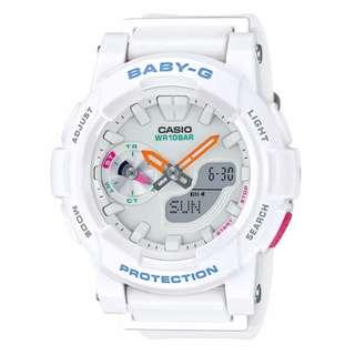 CASIO Baby-G BGA-185 白色 BabyG BGA185