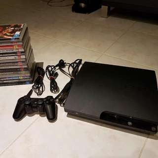 PS3 SLIM With 15 Games! (250Gb)
