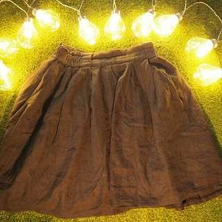 The Black Colour Skirt