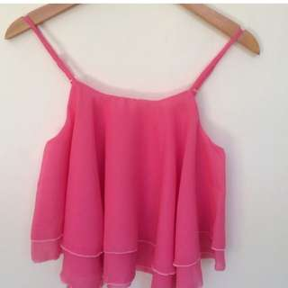 Double layer top pink