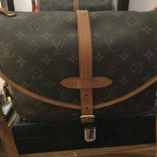 Louis Vuitton Monogram Canvas Saumur 30 Messenger Bag