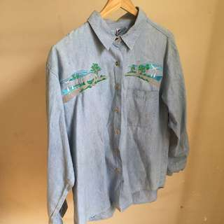 Vintage Peruvian Embroidered Shirt