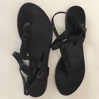 Sambag s38 black sparkly sandals