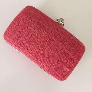 Colette clutch peach/pink