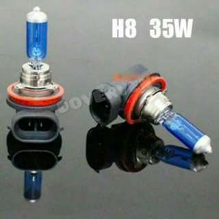 H8 Xenon WHITE Light Headlight Bulb For Motorcycle Gilera And Others ( 35w/35w 5500 K)   Support Hi Low Beam  IN STOCK ( AVAILABLE)
