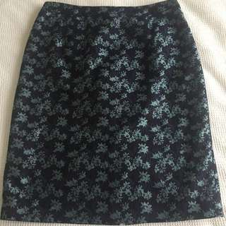 Jigsaw Floral Pattern Pencil Skirt In Size 12