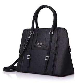 Authentic Guess Black Leather Handbag