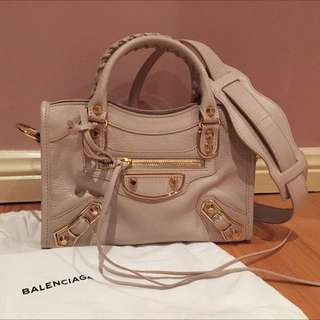 Balenciaga City Mini Metallic Edge