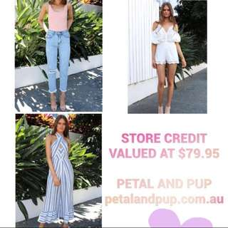 $80 ONLINE VOUCHER • PETAL AND PUP