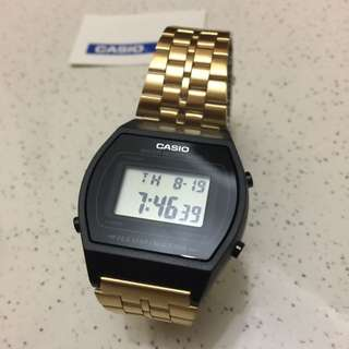Casio Vintage B640 Black Gold, Rare limited Stock