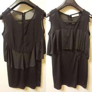 黑色透膚性感洋裝