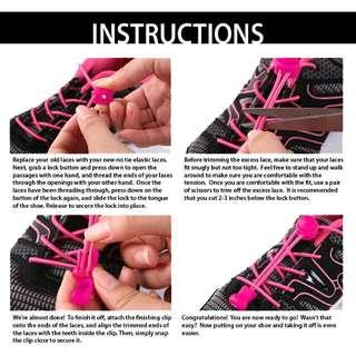 BRAND NEW No Tie Elastic Shoelaces