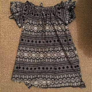 Patterned Off Shoulder Dress