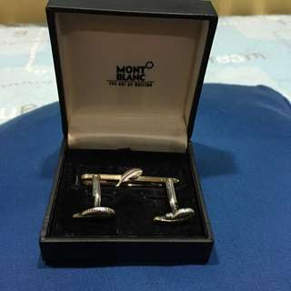 Authentic Mont Blanc Tie Pin And Cufflinks