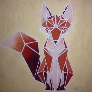 Fox Geometric Painting