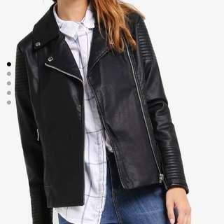 COTTON ON PU Biker Leather Jacket