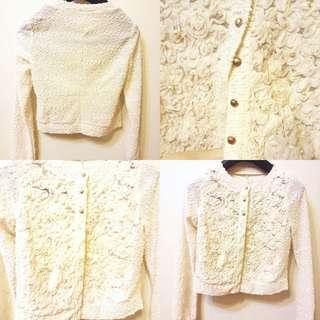 復古蕾絲珍珠小外套