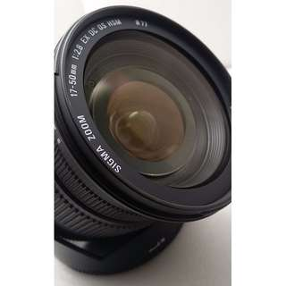 Sigma 17-50mm F2.8 EX DC HSM for canon  9成新