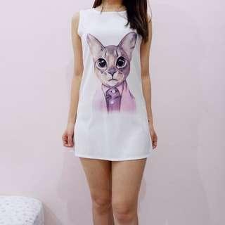 Cat Mini Dress