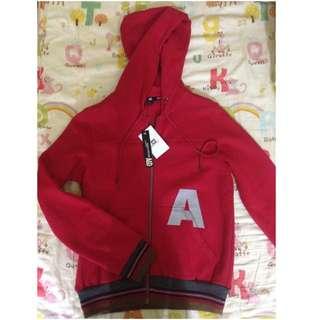 A&D紅色棉外套