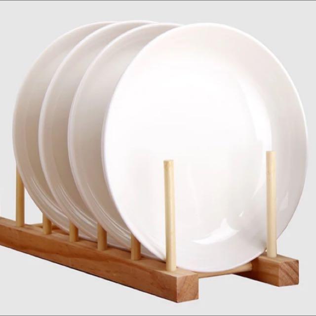 8⃣️英吋白色圓型瓷淺湯盤(可做菜盤) (略有點小瑕疵,介意者慎拍)