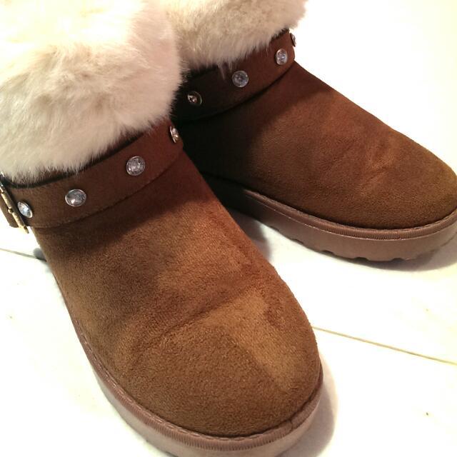 小腳福音~絨毛雪靴 (36號)