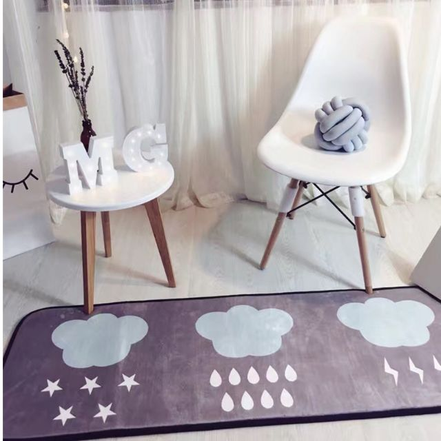 現貨  北歐風 療癒100%居家長地毯  雲朵款/北極熊款