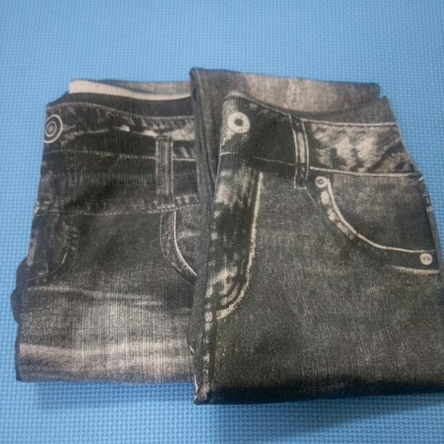 刷毛款 超顯瘦 仿牛仔褲 內搭褲
