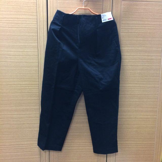 黑色寬褲 哈倫褲 Uniqlo