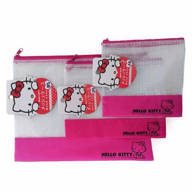 日系生活風 Hello Kitty文件萬用袋-紅色 三件組 ( B5*1 / B6*1 / A6*1 )