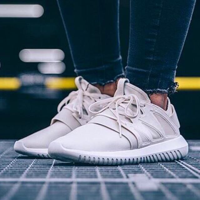 Adidas Originals Tubular Viral Sneakers 米白色